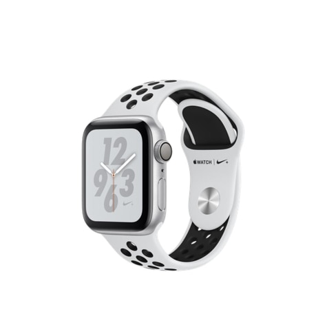 premium selection 253aa d0357 Apple Watch Nike+ Series 4 GPS 40mm Silver Aluminum Case with Pure  Platinum/Black Nike Sport Band
