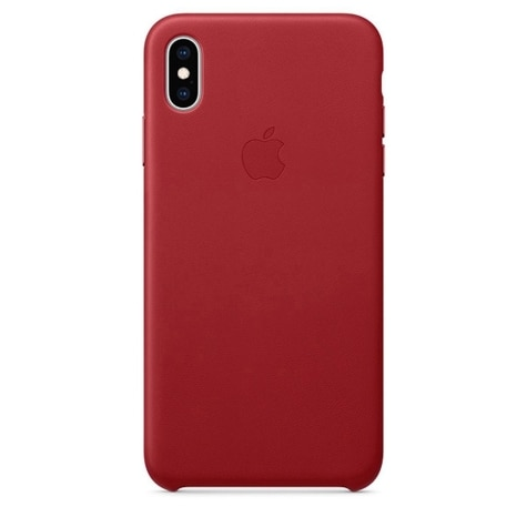 quality design 9073a 38a84 Apple iPhone XS Max Leather Case (Product) Red MRWQ2ZM/A
