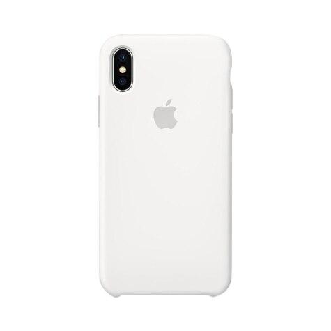 on sale 0c26f b16c2 Apple iPhone X Silicone Case - White MQT22ZM/A